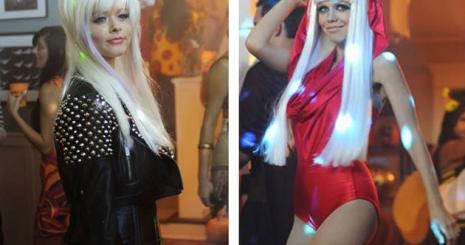Gaga-jelmezben a Pretty Little Liars sztárjai
